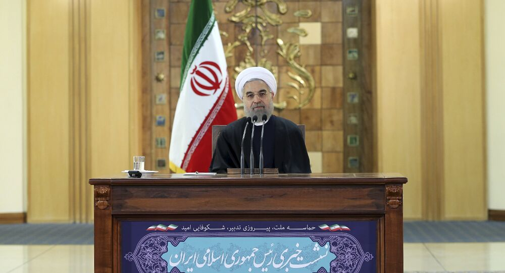 Iranian President Hassan Rouhani attends a news conference in Tehran, Iran January 17, 2016