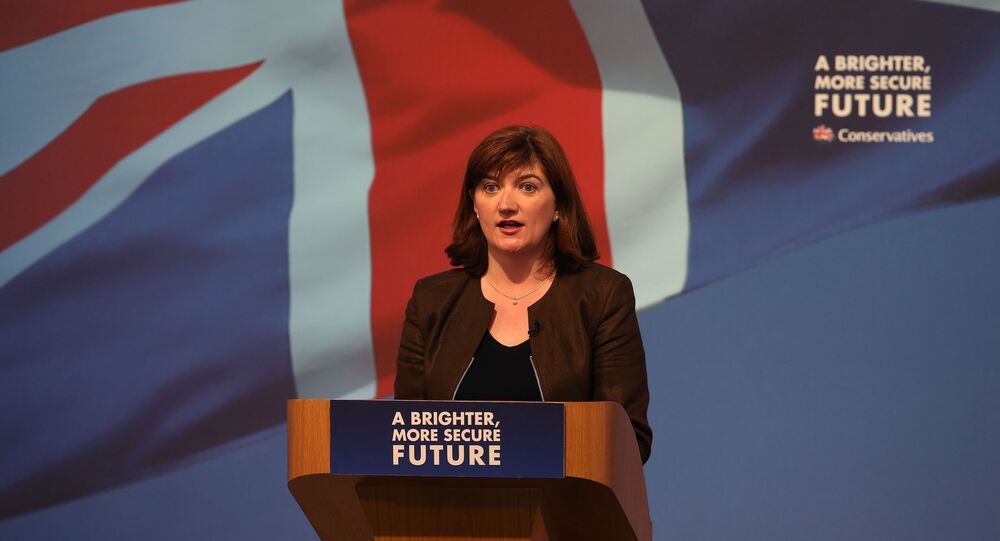 Britain's Secretary of State for Education, Minister for Women and Equalities Nicky Morgan