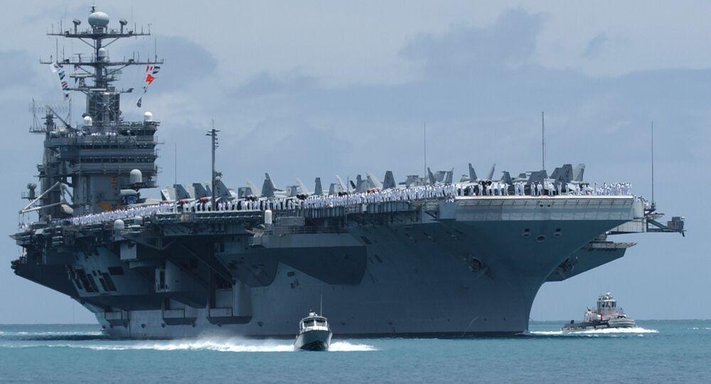 The USS John C. Stennis arrives in Pear Harbor, Hawaii, Tuesday, June29, 2004