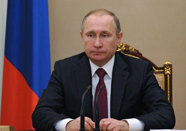 Vladimir Putin holds meeting in Kremlin