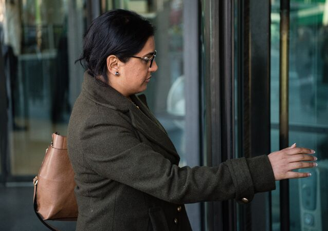 Konika Dhar, sister of Siddhartha Dhar, arrives to give evidence to a British Home Affairs Select Committee at Portcullis House in central London on January 19, 2016.