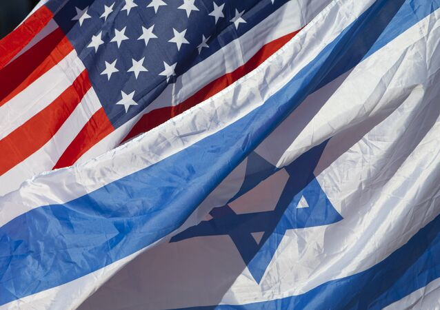 US and Israeli flags fly as U.S. Secretary of State John Kerry arrives in Tel Aviv, Israel, 24 November 2015