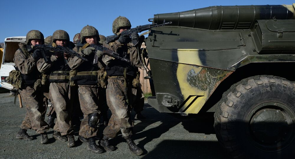 Special Forces competition in Novosibirsk