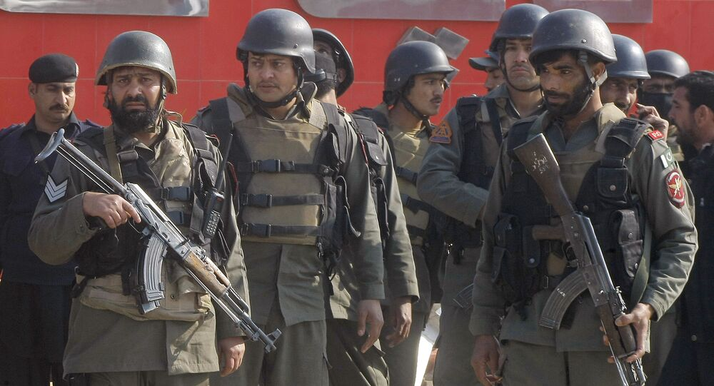 Pakistani troops arrive at Bacha Khan University in Charsadda, some 35 kilometers (21 miles) outside the city of Peshawar, Pakistan, Wednesday, Jan. 20, 2016