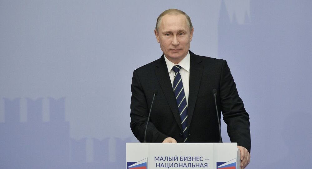 President Vladimir Putin attends 'Are Small Businesses a National Idea?' national forum