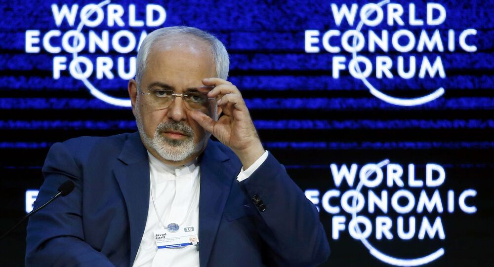 Javad Zarif Iranian Foreign Minister attends the session Next Steps for Iran and the World during the Annual Meeting 2016 of the World Economic Forum (WEF) in Davos, Switzerland January 20, 2016