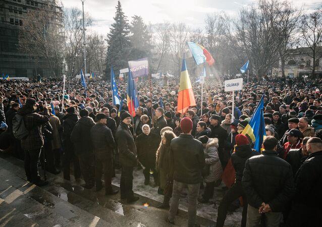 Opposition rally in Moldova File photo
