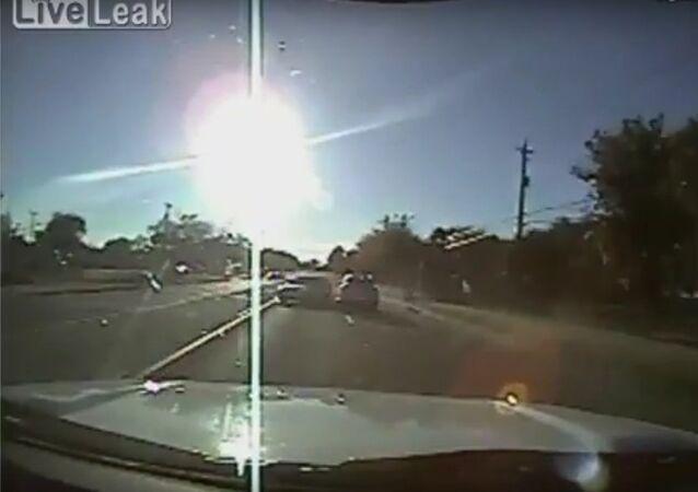 Teens driving stolen car hit cop cruiser
