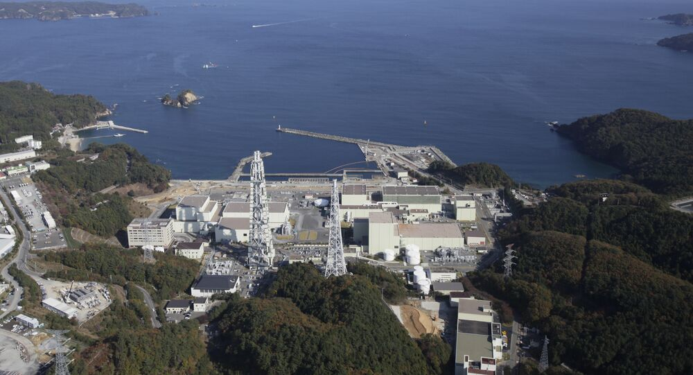 The Onagawa Nuclear Power Plant is seen at Onagawa, in northeast Japan