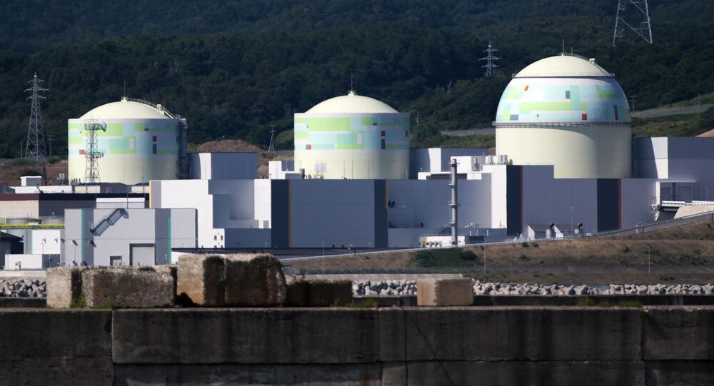 Hokkaido Electric Power's Tomari nuclear power station at Tomari village in Japan's northern island of Hokkaido