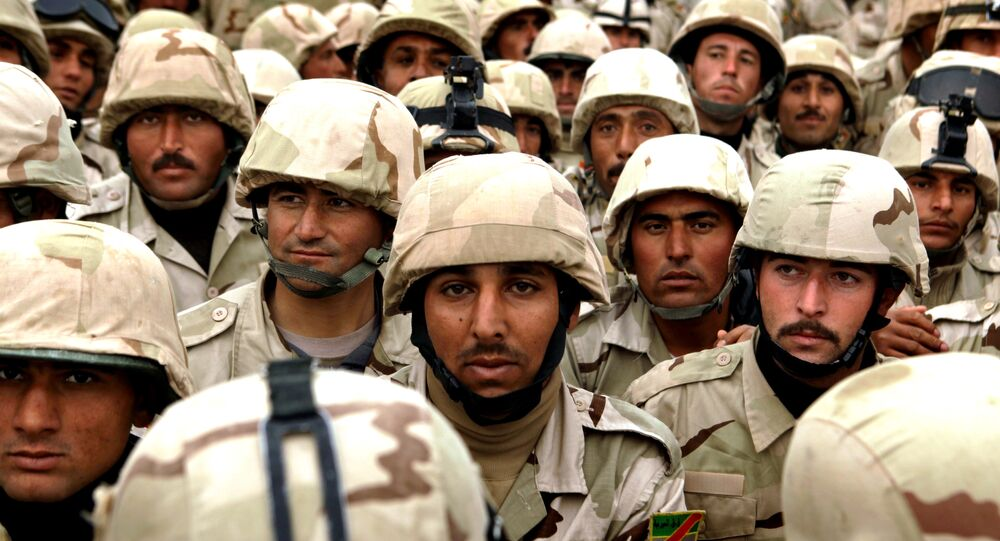 Soldiers from the Third Iraqi Army Division in Mosul, Iraq, Thursday, Jan. 27, 2011.