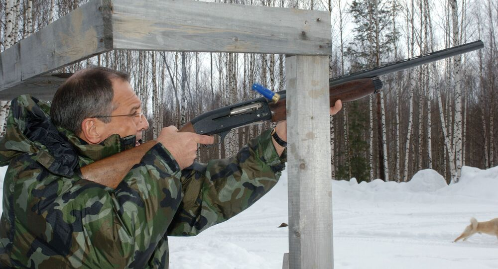 Sergei Lavrov in his spare time