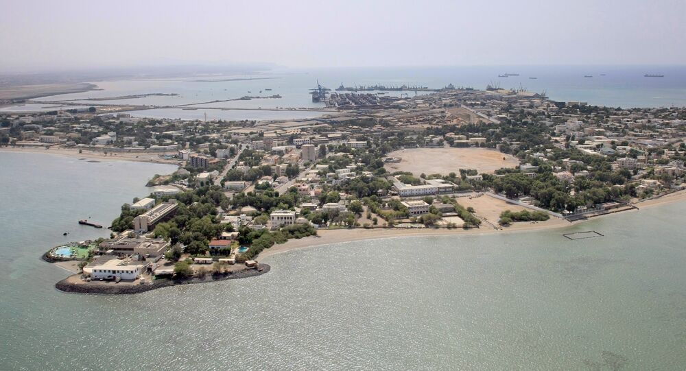 An aerial view of Djibouti