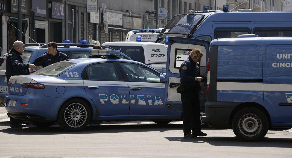 Italian police vehicles. File photo