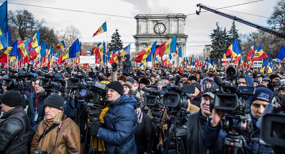 Protest rallies in Moldova