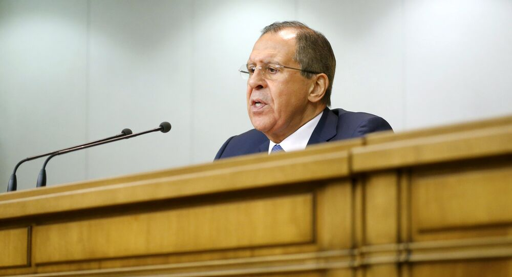 Russian Foreign Minister Sergei Lavrov speaks during a news conference in Moscow, Russia, January 26, 2016