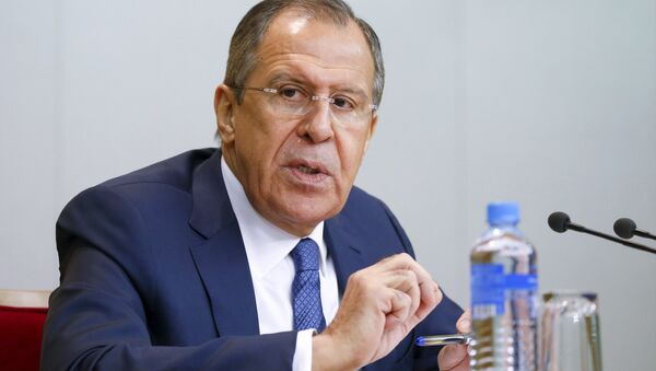 Russian Foreign Minister Sergei Lavrov speaks during a news conference in Moscow, Russia, January 26, 2016 - Sputnik International