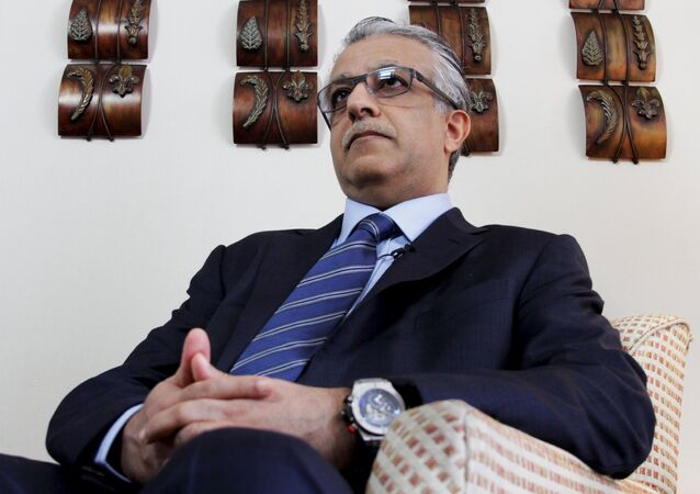 FIFA presidential candidate Sheikh Salman Bin Ebrahim Al Khalifa attends an interview with Reuters in Panama City, Panama, January 8, 2016