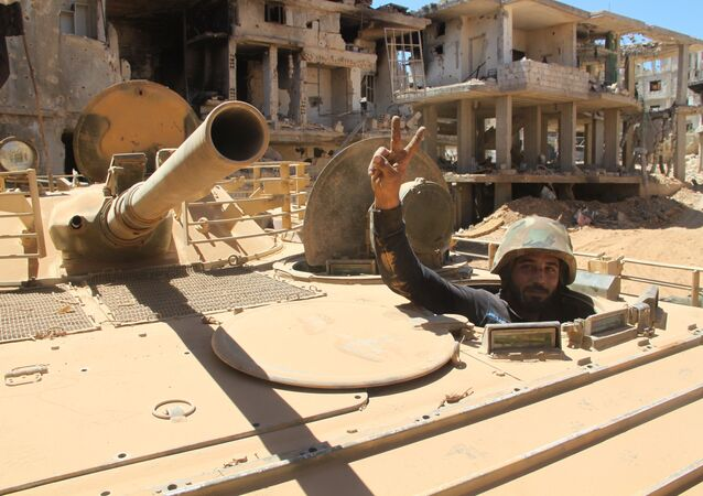 Syrian Army soldier in the city of Zabadani, outside Damascus.