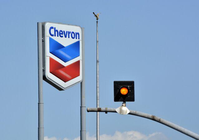 Chevron Sign and Bird on a pole