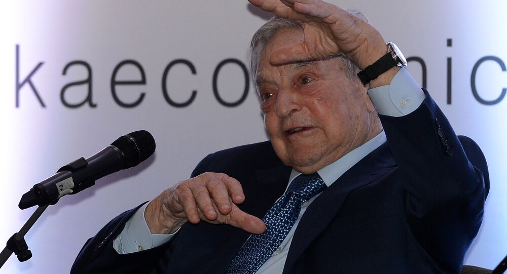 Hungarian-born US magnate and philanthropist George Soros attends an economic forum in Colombo on January 7, 2016