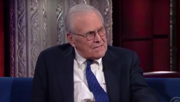Donald Rumsfeld Still Won't Accept US Responsibility for Creation of Daesh - Sputnik International