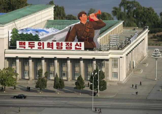 A general view of the Kim Il-sung Square in the capital Pyongyang in this October 17, 2005 file photo