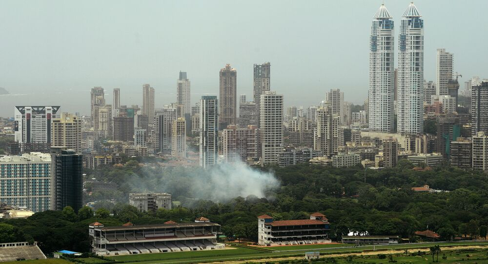 High-rise buildings are seen dotting the skyline of the Indian city of Mumbai on July 15, 2015