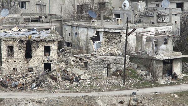 A general view shows damaged buildings. - Sputnik International