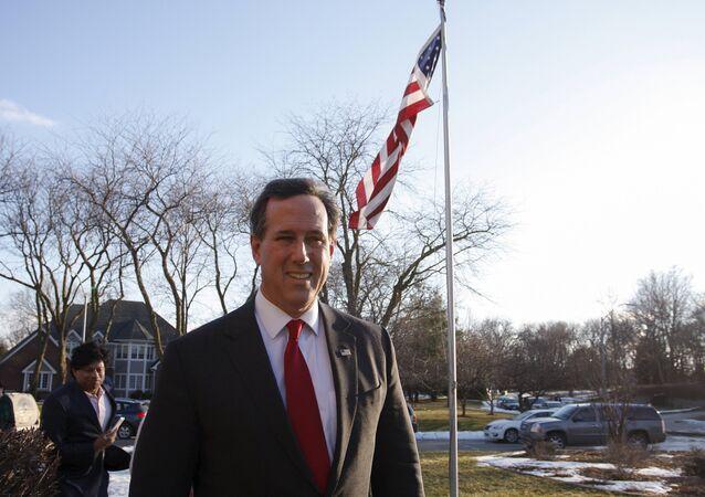 US Republican presidential candidate Rick Santorum.