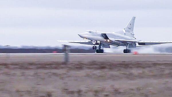 Tupolev Tu-22 M3 strategic bombers hit terrorists in Syria - Sputnik International