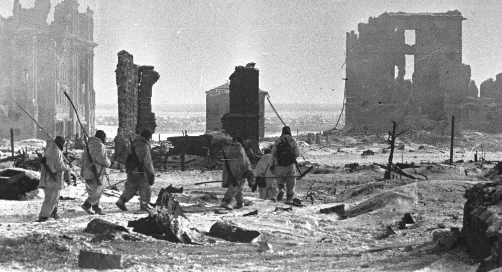 Center of Stalingrad after liberation
