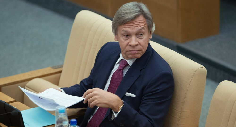 Alexei Pushkov, Chairman of the Committee on International Affairs