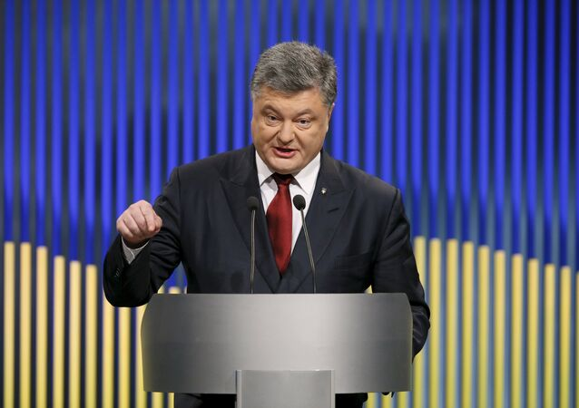 Ukrainian President Petro Poroshenko speaks during a news conference in Kiev, Ukraine, January 14, 2016