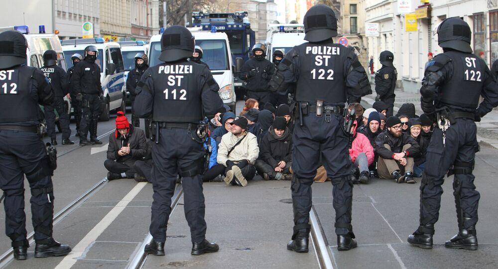 Polizei in Leipzig