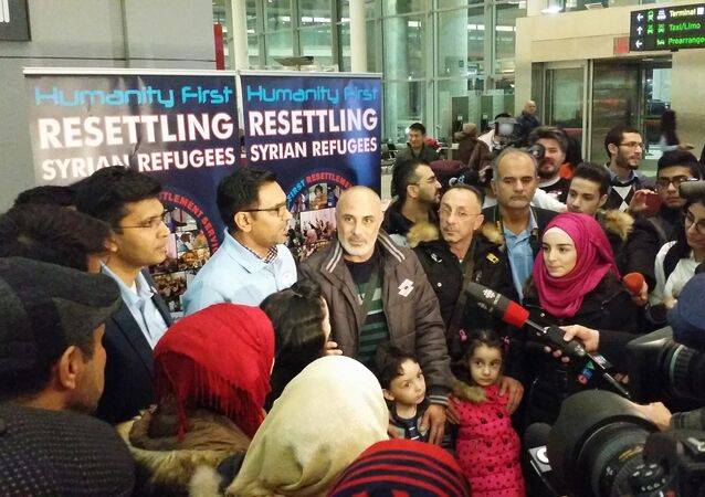 First Syrian Refugee family landed in Toronto. December 9, 2015