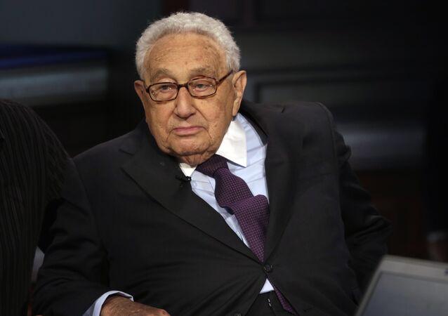 Former US Secretary of State Henry Kissinger.