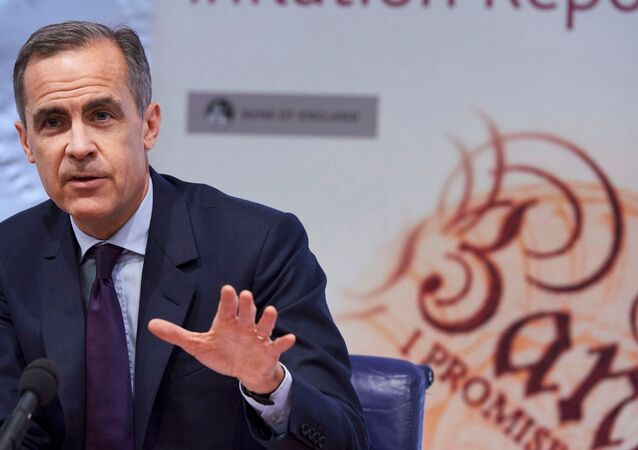 The Governor of the Bank of England, Mark Carney, speaks during the quarterly Inflation Report press conference in central London, February 4, 2016.