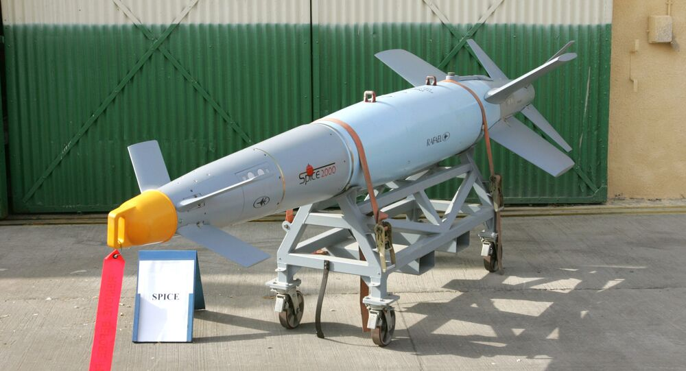 An Israeli Air Force Mk 84 Bomb Spice 2000 by Rafael