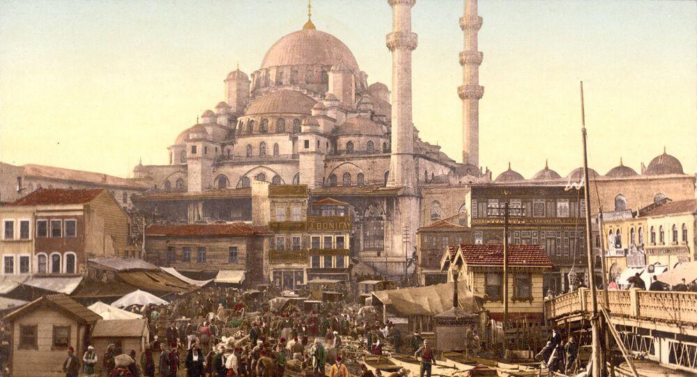 Yeni Cami and Eminonu bazaar, Constantinople