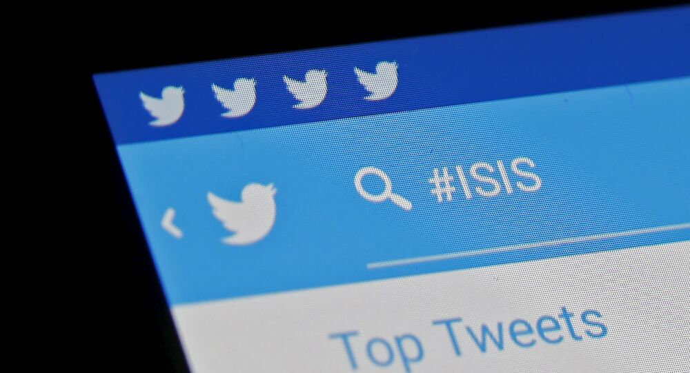 The Islamic State hashtag (#ISIS) is seen typed into the Twitter application on a smartphone in this picture illustration taken in Zenica, Bosnia and Herzegovina, February 6, 2016