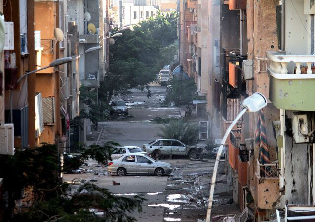 Damages are seen due to clashes between the Libyan military and Islamic militias in Benghazi, Libya (File)