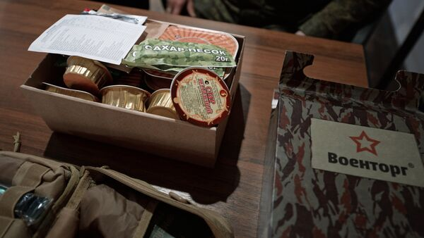 K-rations on display during Draftee Day at a Russian Interior Ministry Troops unit in Yekaterinburg - Sputnik International