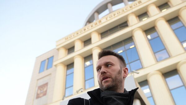 Lawyer and politician Alexei Navalny is seen near the Moscow City Court building - Sputnik International