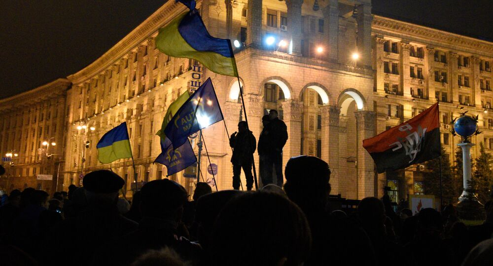 Anniversary of Maidan in Kiev