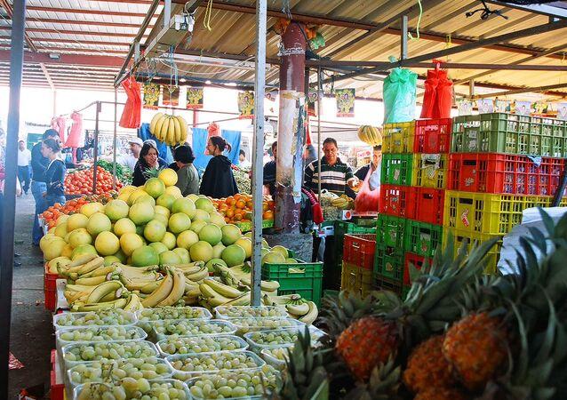 Market. Israeli village at the Galile - northern Israel