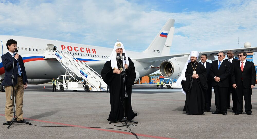 Patriarch Kirill of Moscow and All Russia arrived in Paraguay on Monday, where he will stay for three days.