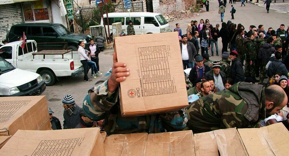 Russia delivered humanitarian aid to Syrians