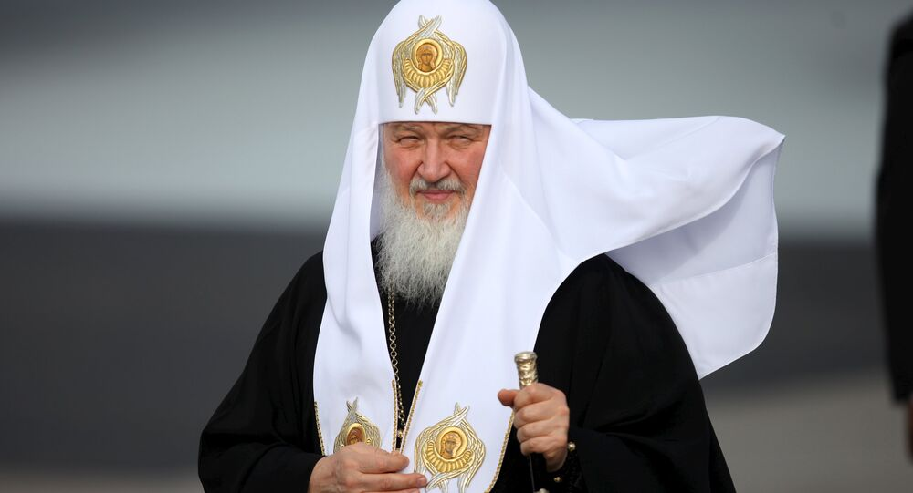 Patriarch Kirill, the head of the Russian Orthodox Church, walks after his arrival at the Jose Marti International Airport in Havana, February 11, 2016