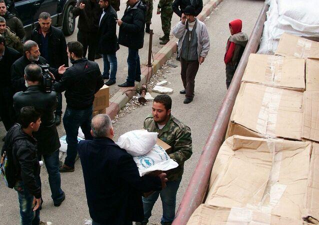 Russia delivered humanitarian aid to Syrian Kessab, Latakia Province
